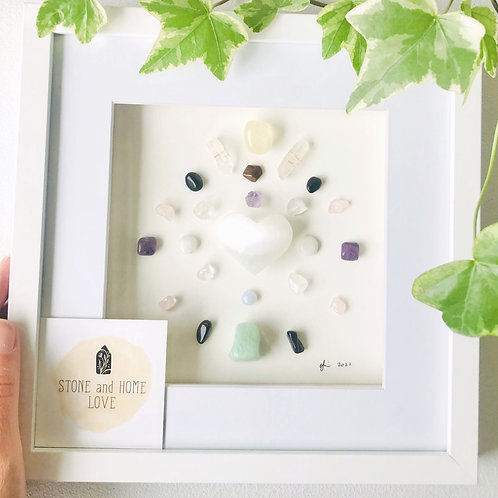 Happiness. Small Frame Crystal Grid
