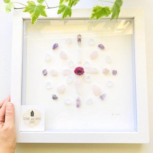 Love and Wisdom Medium Frame Crystal Grid