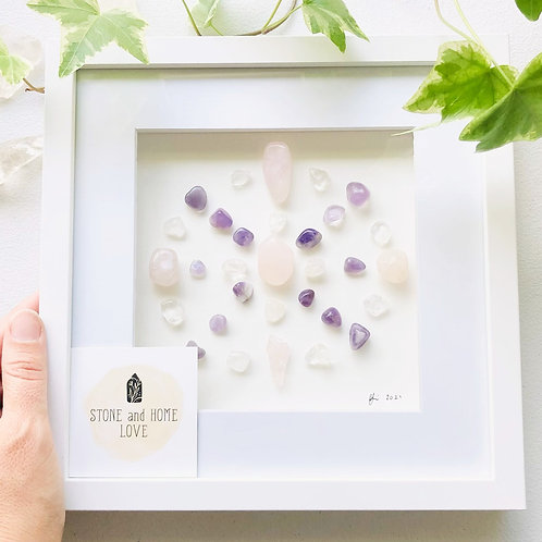 Love and Peace Small Crystal Grid