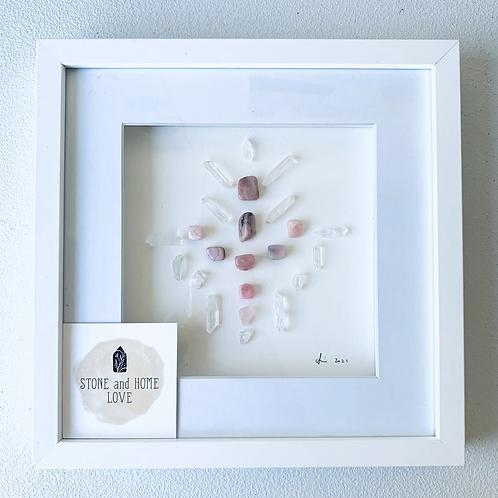 Rhodonite Angel  Small Crystal grid