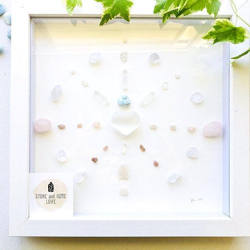 Higher Vibration. Medium Frame Crystal Grid
