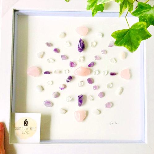 Love and Peace Medium Frame Crystal Grid