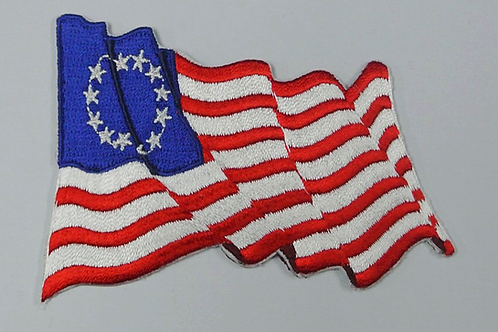 Betsy Ross Embroidered Flag Patch