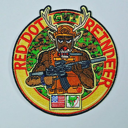 Red Dot Reindeer Patch