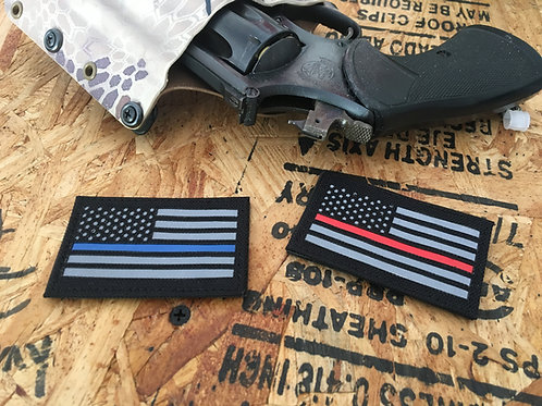 Small American Flag Patch Thin Line