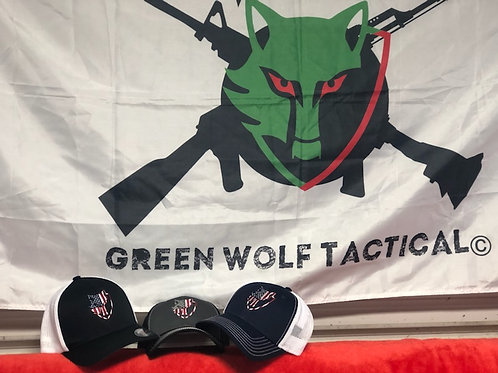 Green Wolf Stars & Stripe Hat