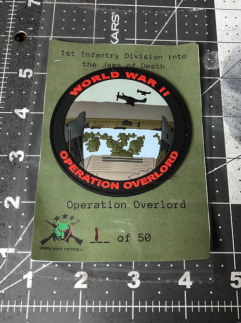 Operation Overlord Patch(1st Infantry Division into the Jaws of Death)