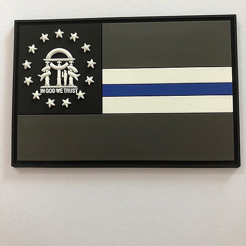 Georgia Flag Patch Thin Line