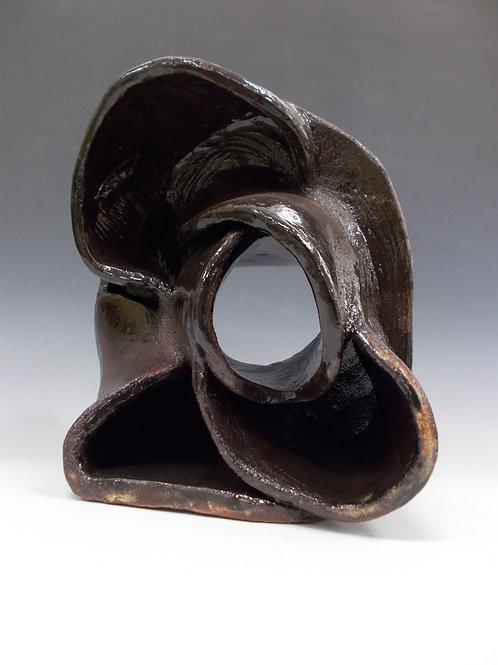 Ceramic twisted Sculpture