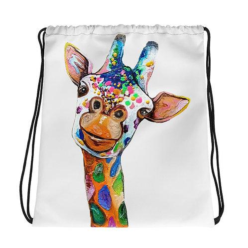 Cray Giraffe Drawstring bag