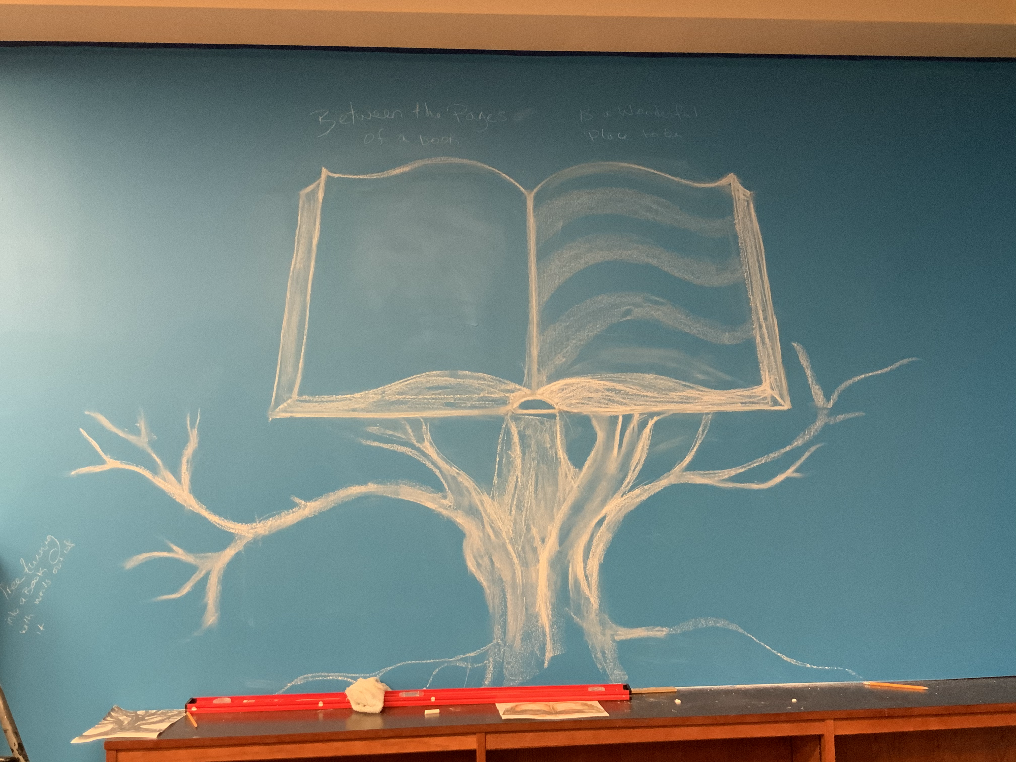 Book in Tree Wall
