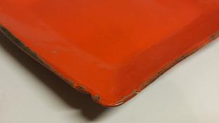 Ceramic Orange Plate