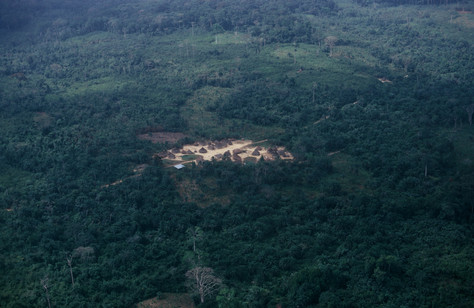 An aerial photograph I took of a hamlet in Liberia's interior.
