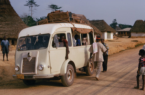 The ubiquitous transport in up-country Liberia, a money bus.
