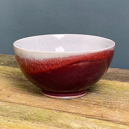 Small Bowl, Copper Red & Purple