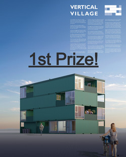 Vertical Village receives 1st Prize in the competition Container City