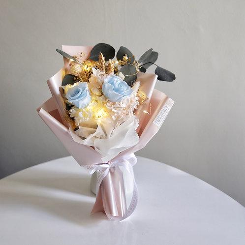Pastel Blue Roses Bouquet