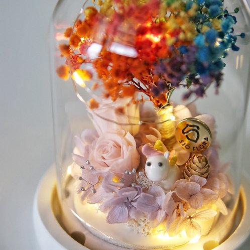 Handmade Unicorn LED Bell Jar