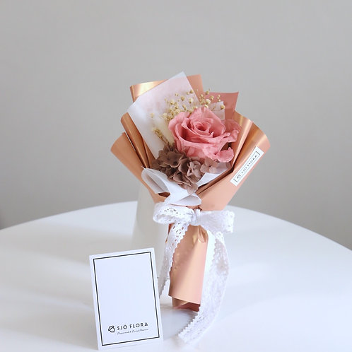 Single-Stalk Bouquet - Muted Red Rose