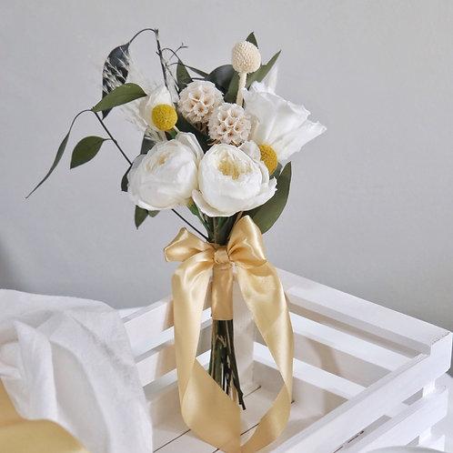 Mini Preserved White Bridal Bouquet