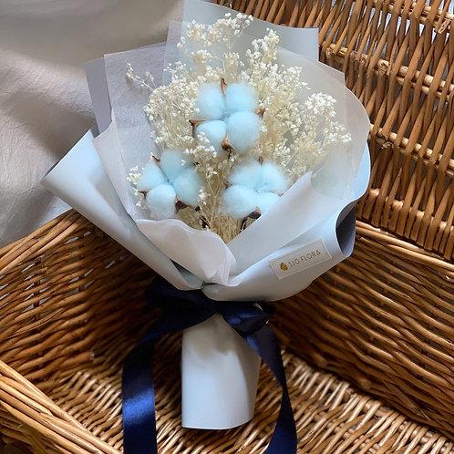 Blue Cotton Flower Bouquet