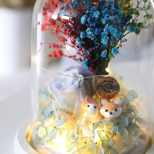Magical Woods LED Bell Jar