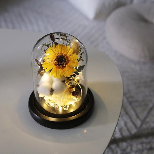 Smiles - Sunflower LED Bell Jar