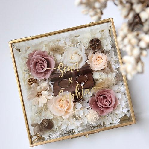 Vintage Rose Garden Ring Box