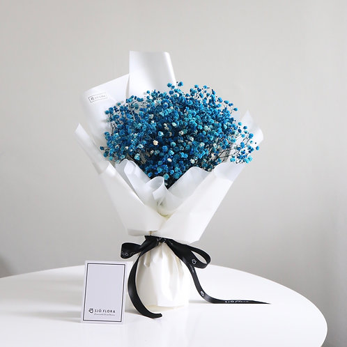 Preserved Blue Baby's Breath Bouquet