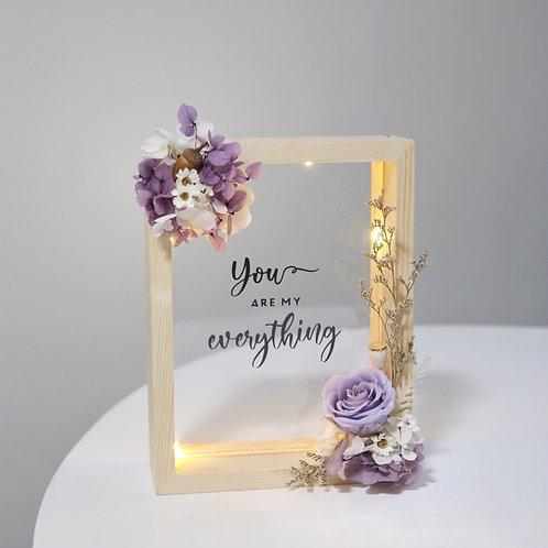 Purple Floral Wooden Frame