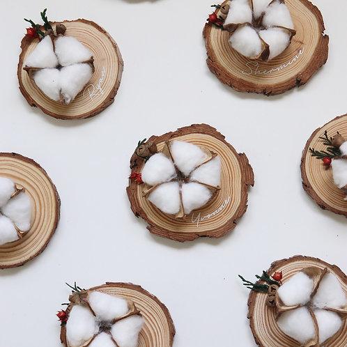 Cotton Flower Magnet