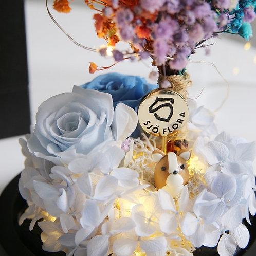 Handmade Corgi LED Bell Jar
