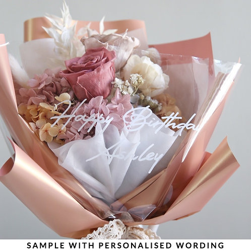 Personalised Wording on Bouquet