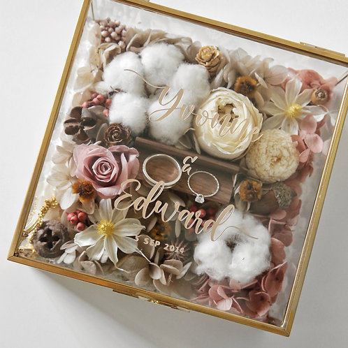 Vintage Floral Ring Box