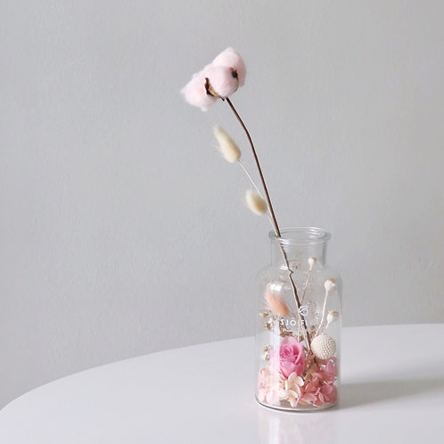 Pink Beach Glass Vase