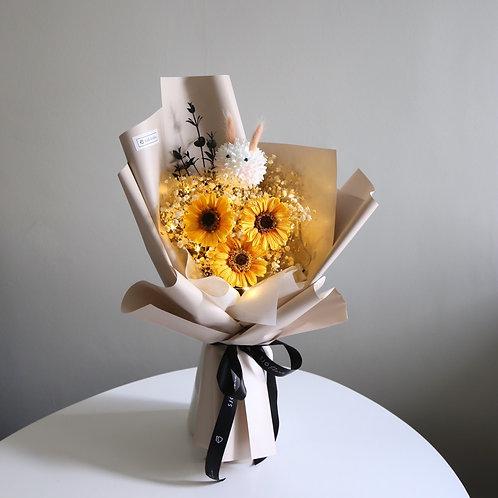 Gerbera Bouquet with Bunny