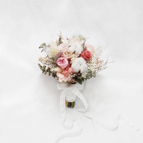 Sweet Pink Preserved Flower Bridal Bouquet