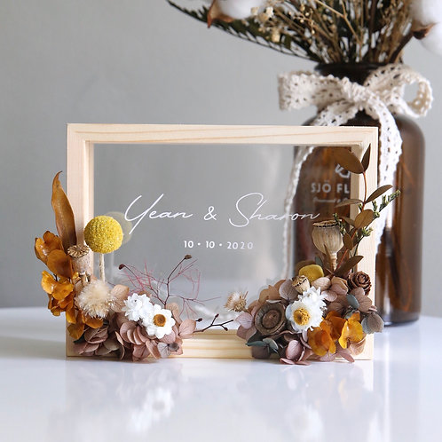 Autumn Floral Wooden Frame