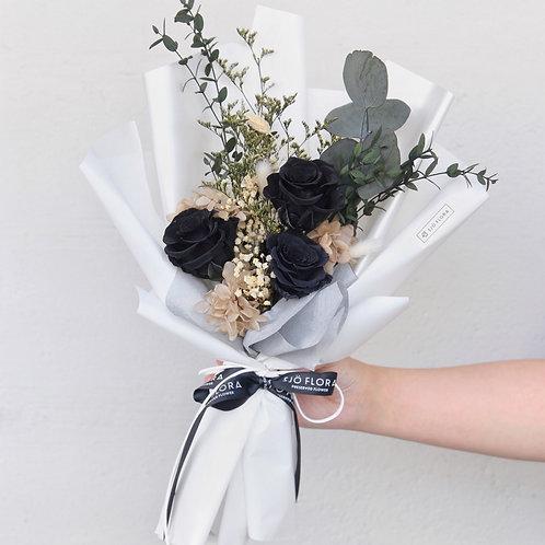 Three-Stalk Bouquet - Black Roses