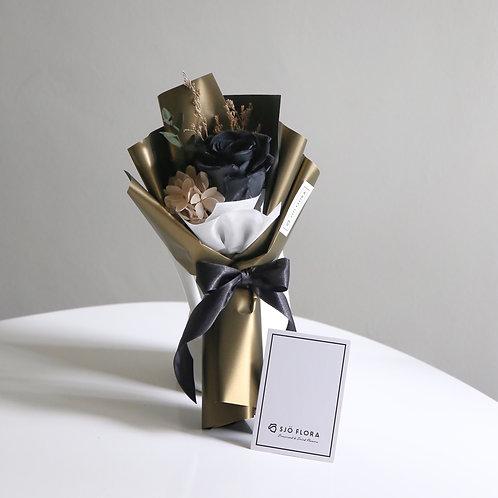 Single-Stalk Bouquet - Black Rose