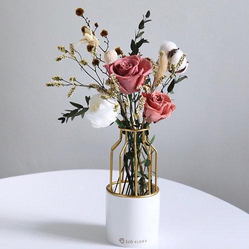 Vintage Red Rose Vase