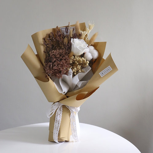 Preserved White Rose Bouquet