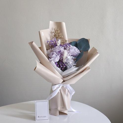 Three-Stalk Bouquet - Purple Roses