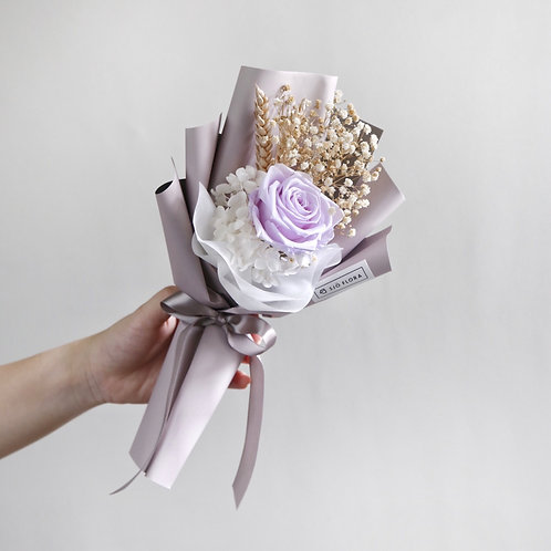 Single-Stalk Bouquet - Purple Rose