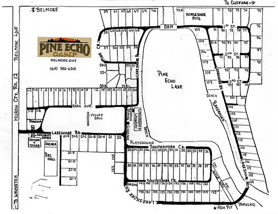 Pine Echo Camp park map