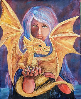 The Sorceress and the golden dragon baby