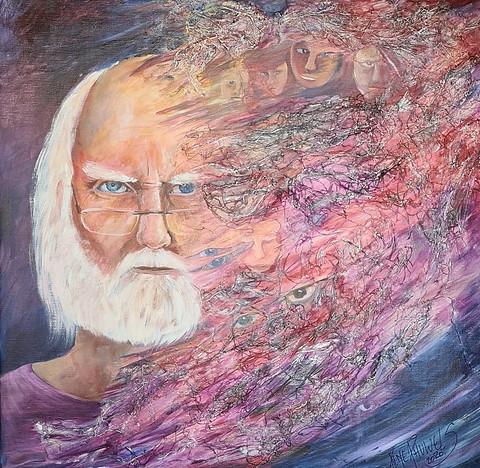 A Painter's dream, selfportrait