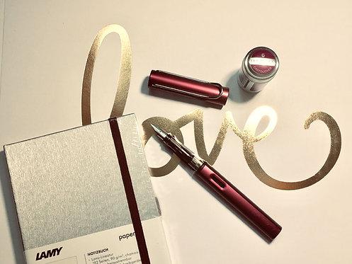 Purple (Magenta) Lamy Al-Star Pen - M nib