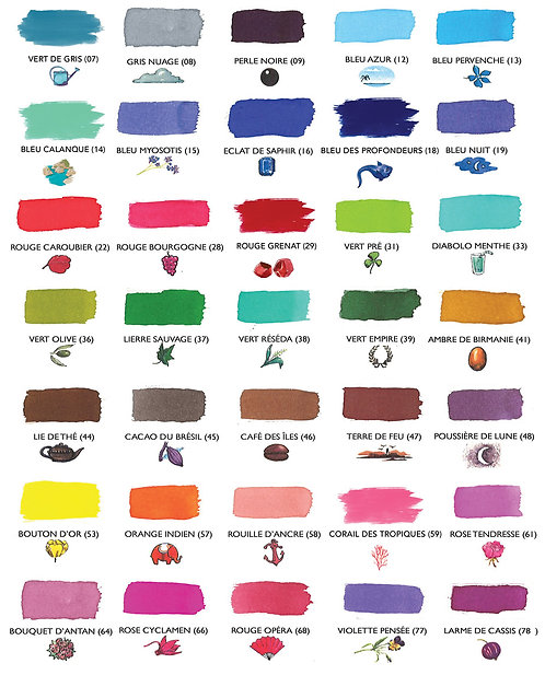 J Herbin Fountain Pen Ink Swatches