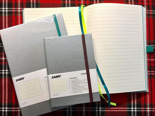 Lamy Silver Hardcover Notepage w/Turmaline Trim